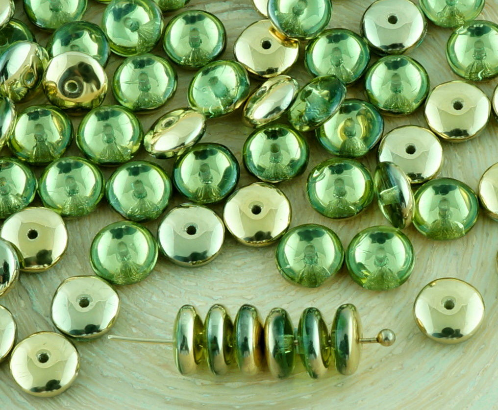 60pcs crystal disc flat round disk spacer washer solo one for Glass discs for crafts